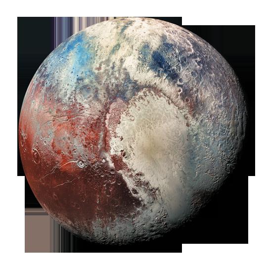 Pluto in 3d