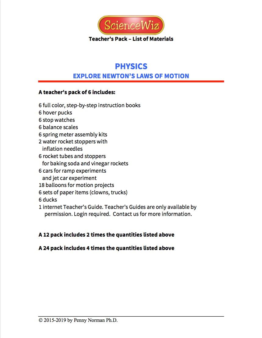 Physics Teacher's Pack